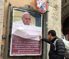 Rome wakes up to find city full of anti-Pope Francis posters