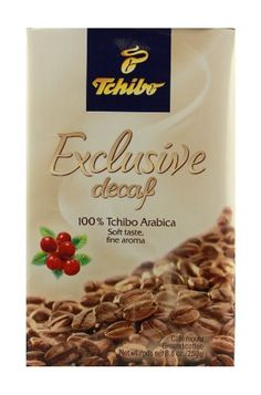 Tchibo Exclusive Decaf Ground Coffee 2 Packs X 8.8oz/250g - http://thecoffeepod.biz/tchibo-exclusive-decaf-ground-coffee-2-packs-x-8-8oz250g/