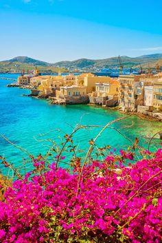 Beautiful World, Beautiful Places, Santorini Villas, Myconos, Greek Beauty, Greek Isles, Greece Islands, Travel And Leisure, Greece Travel