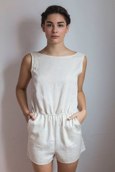 Open back romper short by zoegkocsis on Etsy, $65.00