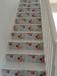 Catch kidston wallpaper stairs