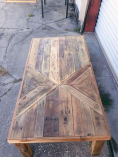 Reclaimed Barn wood Chevron Coffee Table by triple7recycled on Etsy: