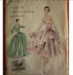 Vogue Couturier Design 858 circa 1955 Dress & Bolero