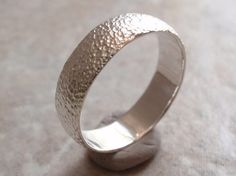 Sterling Hammered Band Size 121/4 Hand Textured by cutterstone, $67.00