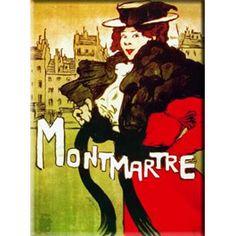 affiche ancienne Montmartre #Paris