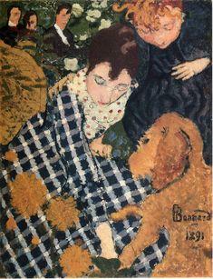 "artishardgr: ""Pierre Bonnard - Woman with Dog 1891 """