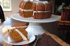 Shugary Sweets: Pumpkin Cake with Chocolate Ganache