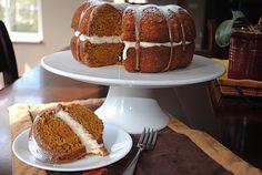 Shugary Sweets: Pumpkin Cake with Chocolate Ganache