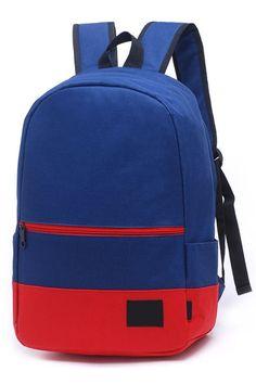 Essential Colorblock Canvas Schoolbags