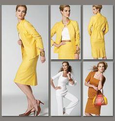 Vogue - 8799 patroon jasje, jurk, top, rok en broek | Naaipatronen.nl | zelfmaakmode patroon online