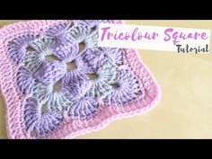CROCHET: Tricolour square tutorial | Bella Coco - YouTube