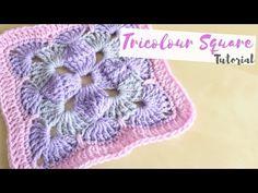 CROCHET: Tricolour square tutorial | Bella Coco - YouTube