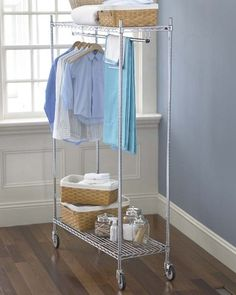 Garment Rack - love it because you can do your laundry, steam/iron, and hang it up all at one time.