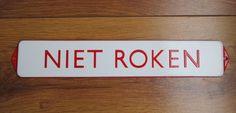 Online veilinghuis Catawiki: Emaille tekstbord Niet roken - ca 1950