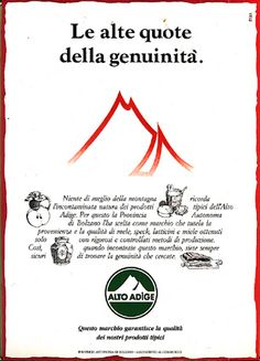 advertising for Alto Adige food products