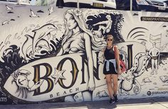 Bondi beach #bondi #bondibeach #bondibeachsydney #bondibeachgraffitiwall #sydney #australia #travel #traveling #posing #peace by madameflagada http://ift.tt/1KBxVYg