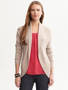 Sweaters are the only thing that ever fit me at Banana Republic, but they have great sweaters. Keep an eye on the clearance racks--good deals do happen!
