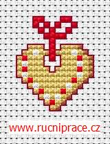 Christmas gingerbread, free cross stitch patterns and charts - www.free-cross-stitch.rucniprace.cz