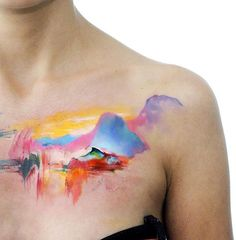 Watercolor scene by Aleksandra Katsan.  http://tattooideas247.com/nature-watercolor/