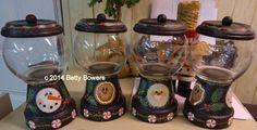 Candy Jar E-packet - Betty Bowers Mason Jar Christmas Crafts, Christmas Bows, Christmas Crafts For Kids, Summer Crafts, Holiday Crafts, Clay Pot Projects, Clay Pot Crafts, Diy Craft Projects, Craft Ideas