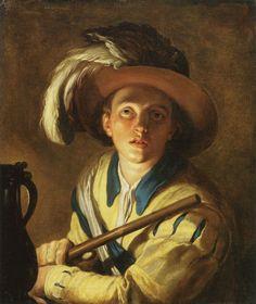 'The Flute Player', 1621.  Abraham Bloemaert.