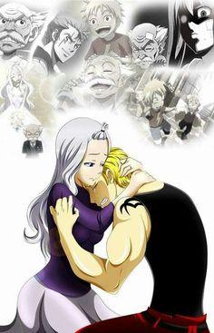 Mirajane comforting Laxus. Remembering the good times