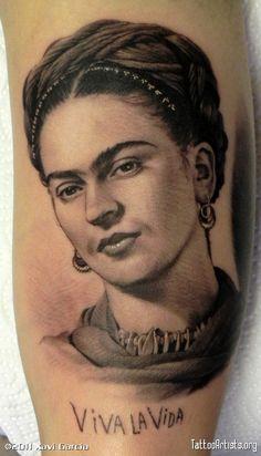 Frida Kahlo By Xavi Garcia [http://www.tattooartists.org/XaviGarciaBoix]