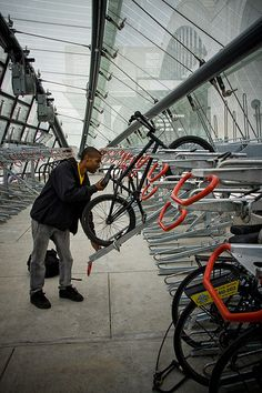Bike Parking, DC. Photo: Mikael Colville-Andersen. Visit the slowottawa.ca boards >> http://www.pinterest.com/slowottawa/
