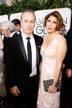 2017 Golden Globes Red Carpet:      Bob Odenkirk and Naomi Odenkirk attend the 74th Annual Golden Globe Awards in Los Angeles on Jan. 8, 2017.