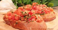 Man nehme: eine Scheibe geröstetes Brot, eine schöne reife Tomate, je eine Prise  Salz & Pfeffer, eine Schalotte, eine Knoblauchzehe, ein Ha...