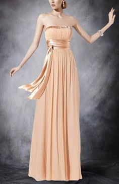 Color Daffodil: A-Line Ruched Strapless Bridesmaid Dress