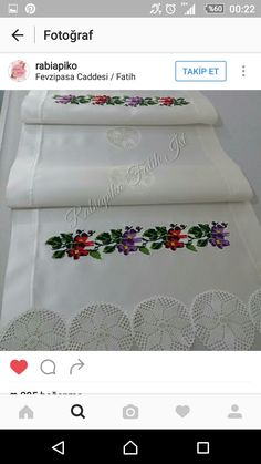 Stitch Crochet, Types Of Embroidery, Handmade Christmas Gifts, Learn To Sew, Textiles, Easy Projects, Crochet Doilies, Home Textile, Table Runners