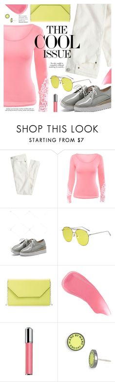 """""""The Cool Issue"""" by pokadoll ❤ liked on Polyvore featuring J.Crew, Halogen, Hourglass Cosmetics, Revlon, Marc by Marc Jacobs, polyvoreeditorial, polyvorefashion, polyvoreset and zaful"""