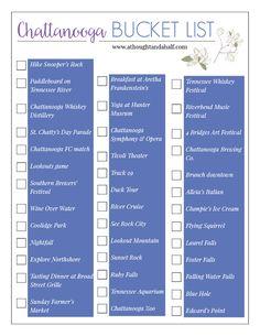 The Chattanooga Bucket List