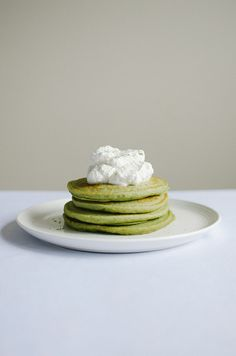 ... with honey whipped cream green tea ricotta pancakes with honey