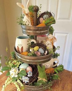 Sweet, creative and unique Easter decorating ideas You can give us ., Sweet, creative and unique Easter decorating ideas You can use the wreath all spring to give your home a very inviting look. Easter Crafts, Holiday Crafts, Holiday Decor, Seasonal Decor, Bunny Crafts, Hoppy Easter, Easter Eggs, Easter Bunny, Easter Tree