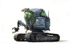 RLyonsArt: Work in Progress Moon patrol environment concept.
