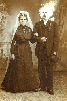 Weird Wedding Vintage Cabinet, Portrait Photo, Vintage Cards, Photographs, British, Photoshop, Portraits, Collections, Movie Posters
