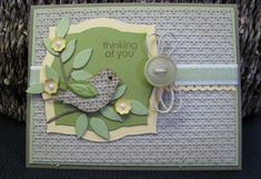 Bird Builder Punch Burlap Birdie for OCC by jennae - Cards and Paper Crafts at Splitcoaststampers