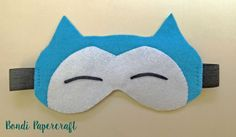 In keeping with the Pokemon theme, here is a felt Snorlax eye mask I made:       The base template is from the Momiji site: How to make your...
