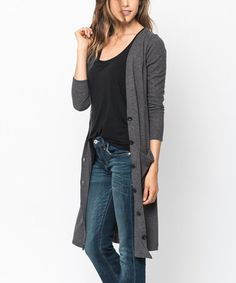 Look what I found on #zulily! Charcoal Button-Up Duster #zulilyfinds