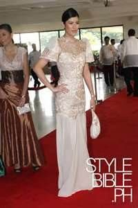 Filipiniana Top and Dress (Kultura), Modern Filipiniana Dress, Filipiniana Wedding, Wedding Bridesmaid Dresses, Wedding Gowns, Philippines Dress, Dress Skirt, Peplum Dress, Philippine Women, Traditional Dresses