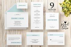 Wedding Invitation Suite - Klara by Print The Love Boutique on @creativemarket