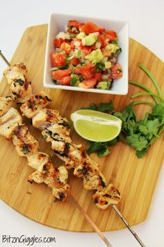 """cilantro / lime glazed Chicken skewers (sub sugar free """"honey"""" or other sweetener)"""