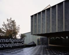 Nottingham Contemporary art gallery by Caruso St John Architects Architecture Office, Contemporary Architecture, Contemporary Art, Newport Street Gallery, Nottingham Contemporary, Famous Architects, Dezeen, Entrance, Art Gallery