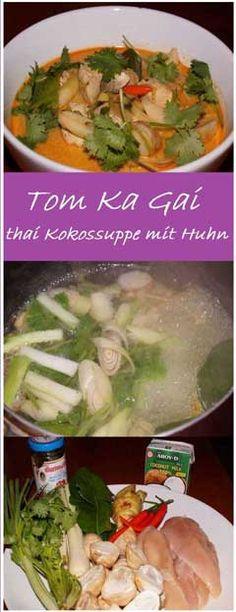 Tom Ka Gai, die allseits bekannte thailändische Kokossuppe mit Huhn ist schnell und leicht zu kochen. Ein leckers thai Gericht, Rezept von Norbi Thai!