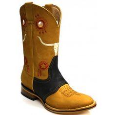 Jugo Boots® 235 Bota de Hombre Rodeo Crazy Negro-Miel Rodeo Boots, Cowboy Boots, Cowboys, Shoes, Fashion, Models, Moda Masculina, Manish, Cowboy Boot
