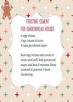 The best frosting for homemade Gingerbread Houses