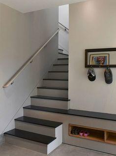 shoe racks in the wall