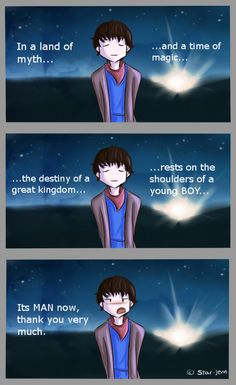 It was such a shiver down the spine moment when the prologue changed from boy to man - Merlin